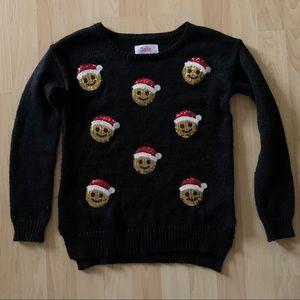 Justice 🎅🏼 Santa Emoji Christmas Sweater